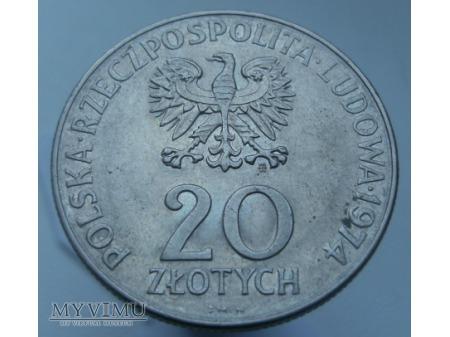 XXV Lat RWPG, 20 zł, 1974 rok.