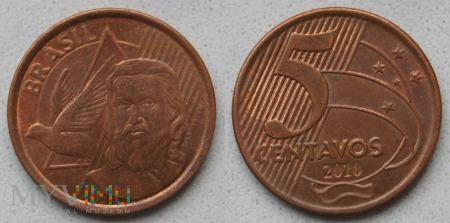 Brazylia, 5 centavos 2010