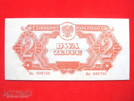 2 złote 1944 rok