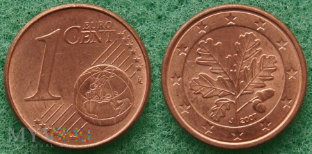 1 EURO CENT 2007 J