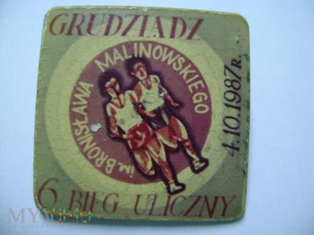 6 bieg uliczny Grudziądz 1987