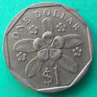 1 Dollar Singapur 1988