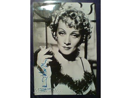 Marlene Dietrich MARLENA Autograf zdjęcie