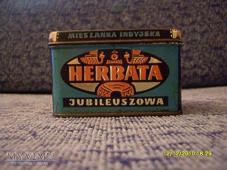 Pudełko od herbaty 'Jubileuszowa'.