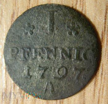 Brandenburgia-Prusy 1 Pfennig 1797 A