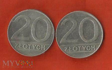 Polska 20 złotych, 1989/1990