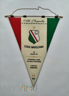 Proporzec Legia Warszawa-Celtic FC 2014