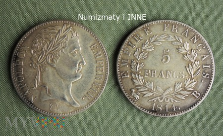 Bonaparte 5 franków 1814