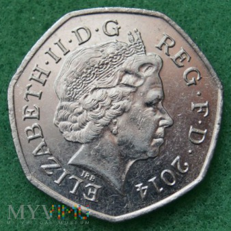 Wielka Brytania, 50 pence 2014