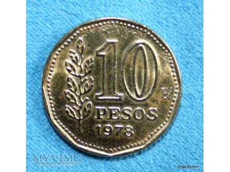 10 Pesos Argentyna 1978
