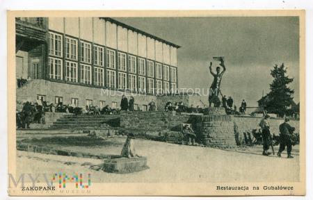 Zakopane 1950 - Gubałówka - Restauracja i rzeżba