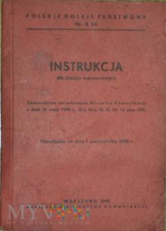 Duże zdjęcie 1948 - Nr. R 34 Instrukcja dla drużyn manewrowych