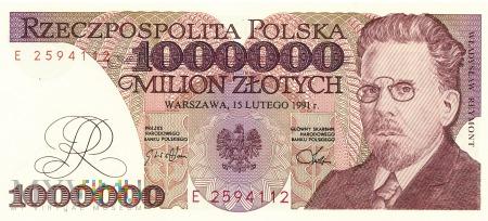 Polska - 1 000 000 złotych (1991)