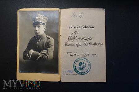 Książka Poborów - Podporucznika I Baonu 3 Pułku