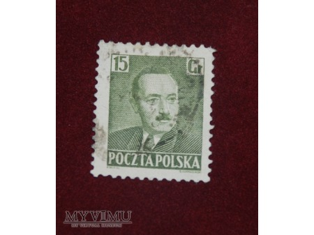 Bolesław Bierut. 15 groszy.