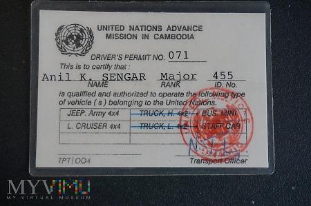 Duże zdjęcie Pamiątka z Misji ONZ w Kambodży