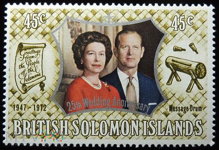 Wyspy Salomona 45c Elżbieta II
