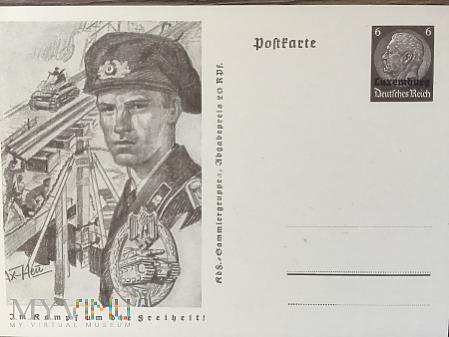 Pocztówka niemiecki pancerniak