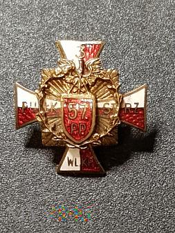 Miniatura Odznaki 57 Pułku Piechoty