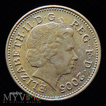 1 Pens 2005 Elizabeth II One Penny