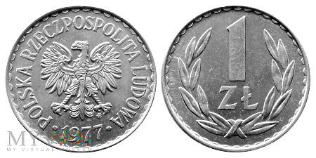Duże zdjęcie 1 złoty, 1977