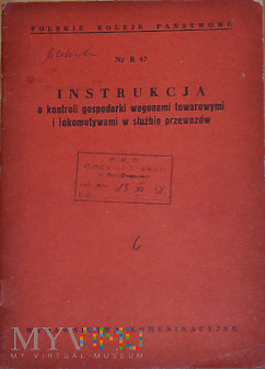 R47-1958 Instrukcja o kontroli gospodarki taborem