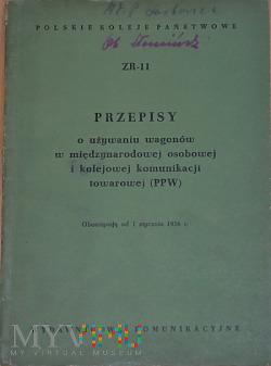 ZR11-1956 Przepisy o wagonach w PPW