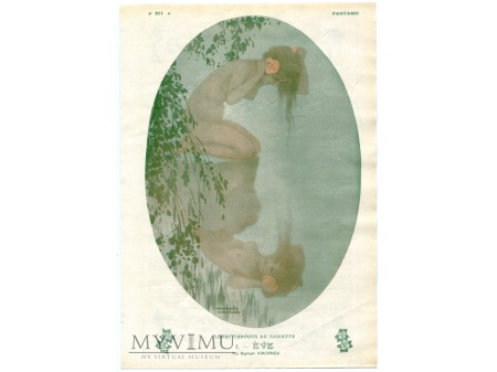 1930 Ewa w kąpieli Akt FANTASIO Raphaël Kirchner