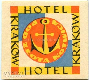 Duże zdjęcie Nalepka hotel - Kraków - Hotel Pod złotą kotwicą