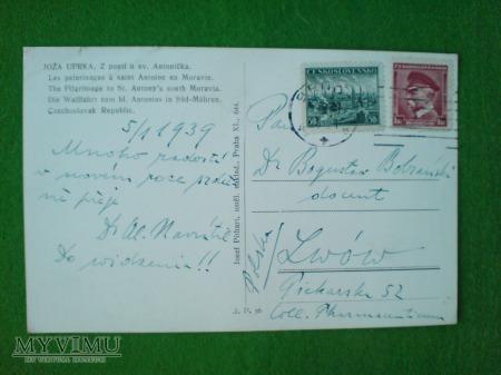 Duże zdjęcie Życzenia Noworoczne 1939 do LWOWA Bobrański