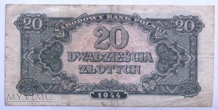 """20 złotych - 1944 (""""obowiązkowym"""")"""