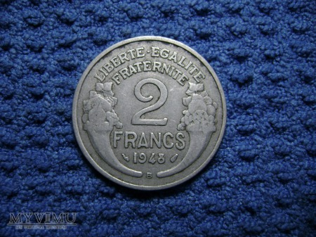 Francja 2 franc 1948