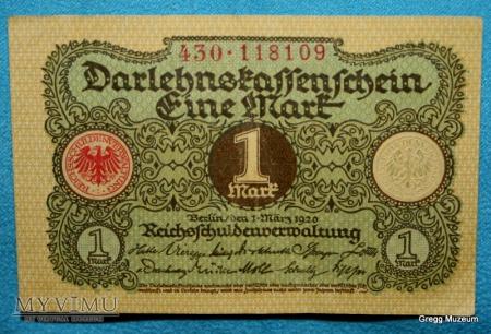 Duże zdjęcie 1 Mark 1920 (Notgeld)