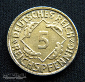 5 Reichspfennig 1936