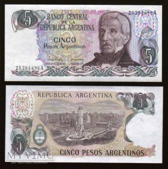 Argentina - P 312 - 5 Pesos Argentinos - 1983