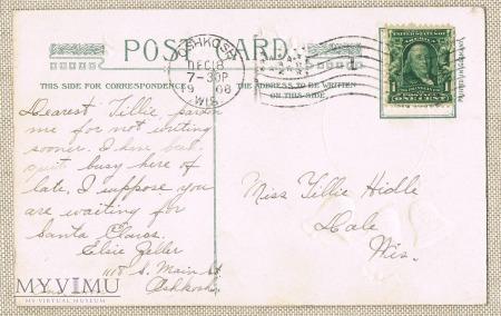 18.12.1908 Mokołaj , dzwoneczki , motyw kwiatowy