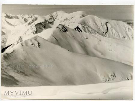 Tatry Ośnieżone grzbiety górskie - 1962