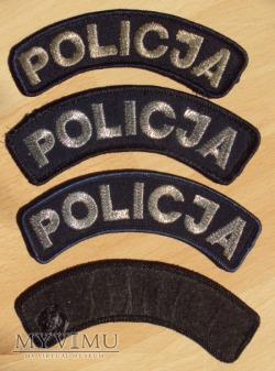 Napis POLICJA