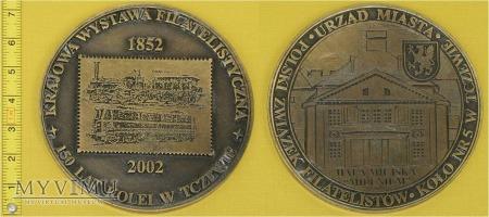 Medal kolejowy 150 lat kolei w Tczewie