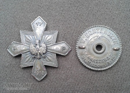 Odznaka 17 pulku piechoty