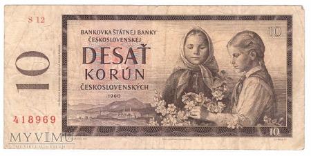 Czechosłowacja, 10 koron 1960r