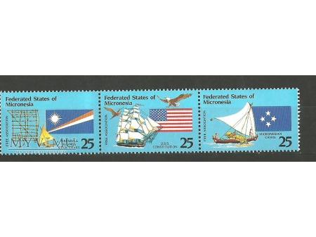 Mikronezyjskie flagi.