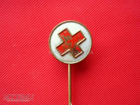Wpinka z czerwonym krzyżem