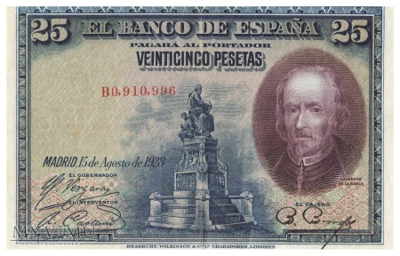 Hiszpania - 25 peset (1928)
