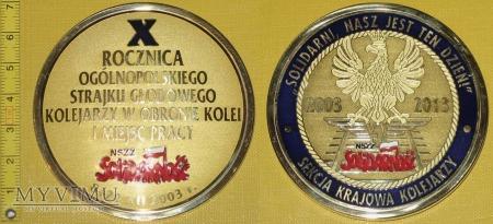 Medal kolejowy - związkowy SKK NSZZ Solidarność
