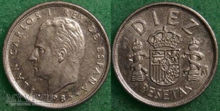 Hiszpania, 10 PESETAS 1985