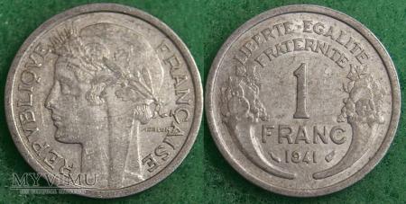 Duże zdjęcie Francja, 1 FRANC 1941