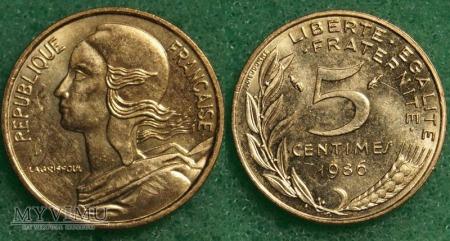Francja, 5 Centimes 1986