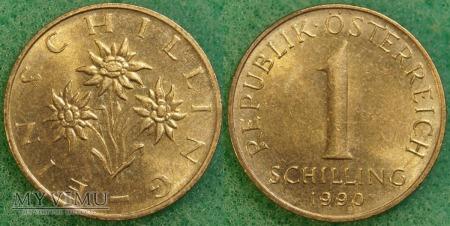Austria, 1 schilling 1990