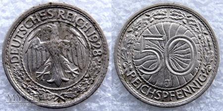 Niemcy, 1928, 50 REICHSPFENNIG